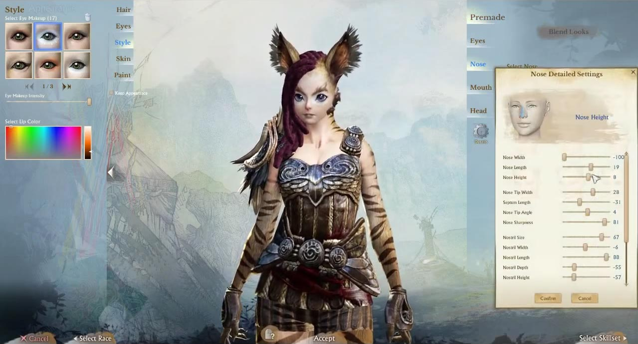 character creation and customization